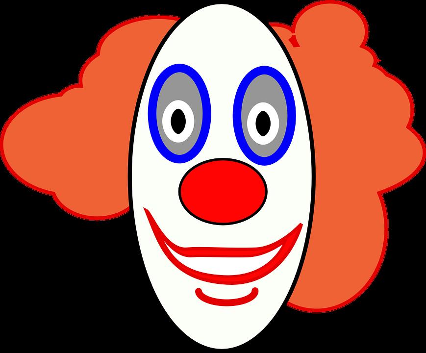 Clown, Face, Smiley, Happy, Fun, Funny, Circus