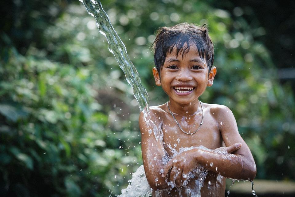 Child, Bath, Boy, Little Boy, Bathing, Smile, Smiling