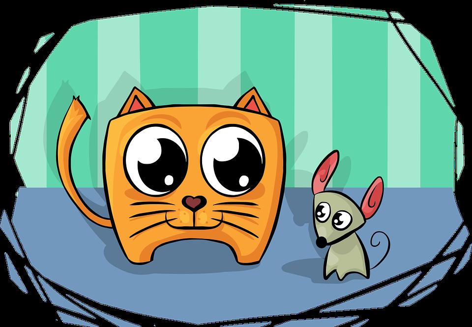 Cat, Mouse, Friend, Smile, Smiling, Friendship, Animal