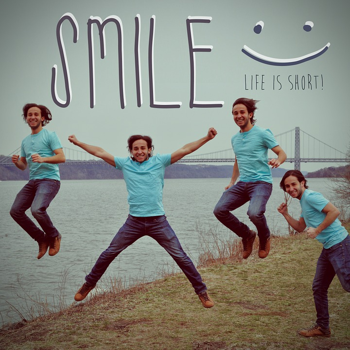 Smile, Happy, Smiling, Jump, Person, Fall, River, Usa