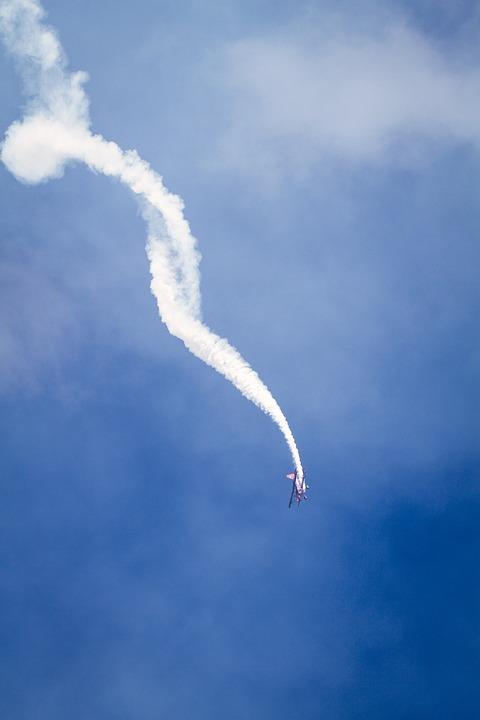 Smoke, Airplane, Sky, Flying, Aircraft, Air, Blue