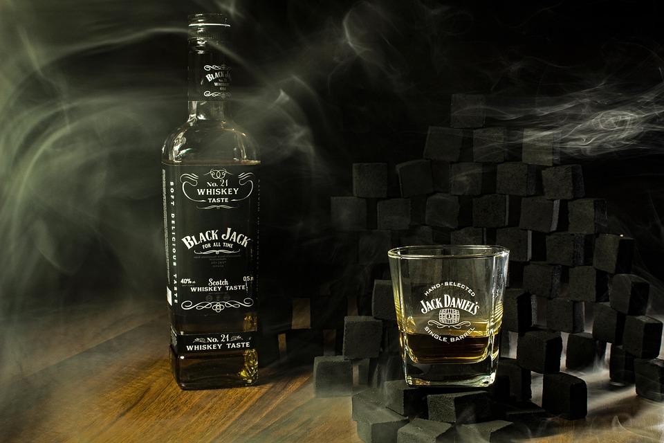 Whisky, Black, Alcohol, Smoke