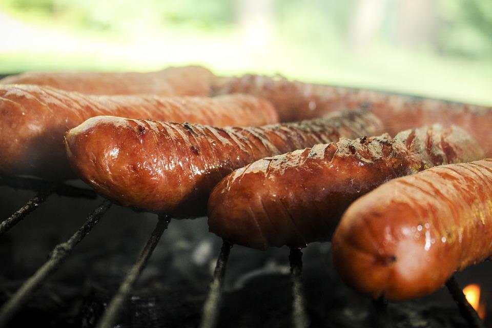 Sausage, Grill, Barbecue At The, Smoke, Coal, Chill
