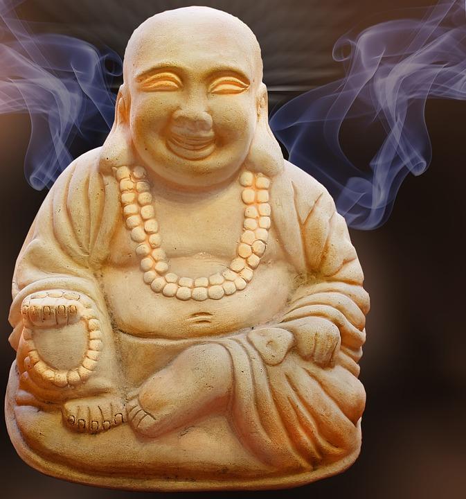 Buddha, Figure, Smoke, Spirituality, Rest, Pray