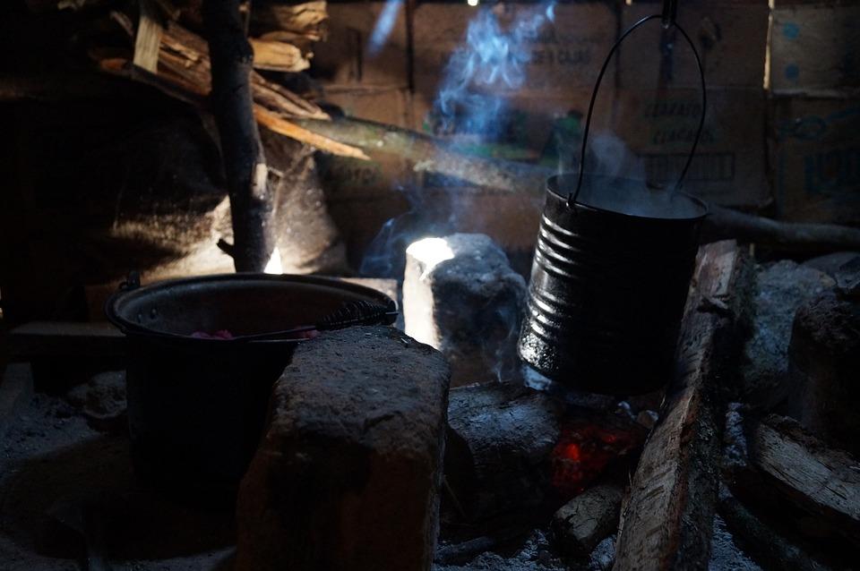 Mexico, Hut, Smoke, Comal