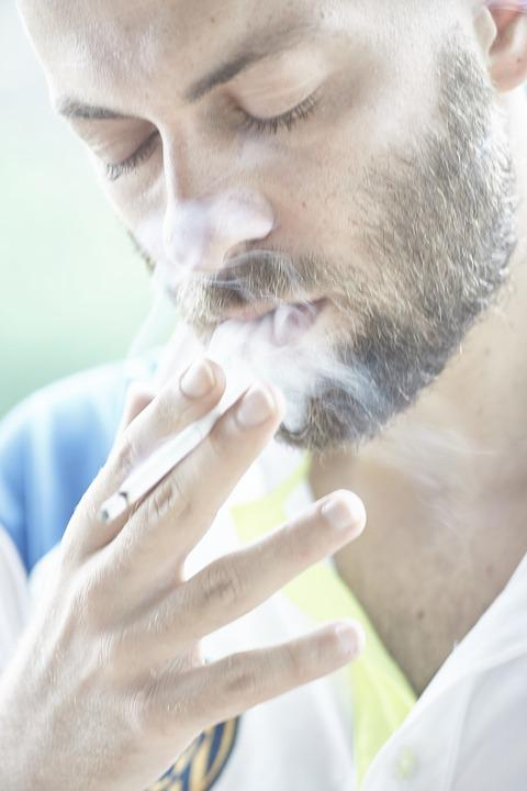 Male, Cigarette, Drink, Smoke, Cancer, Harmful, Pose