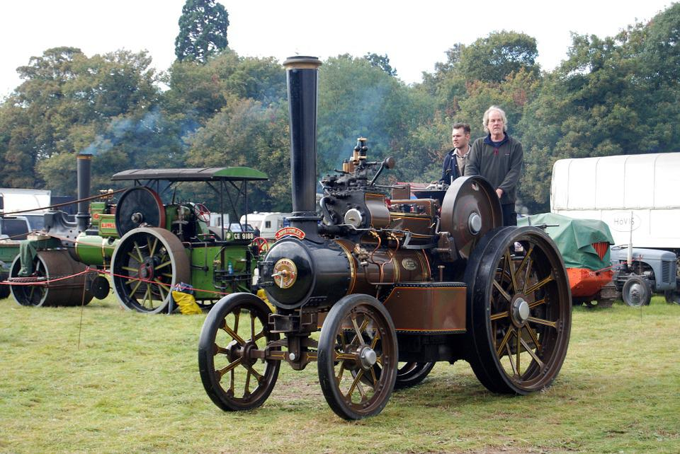 Steam Engine, Traction, Steam, Engine, Vintage, Smoke