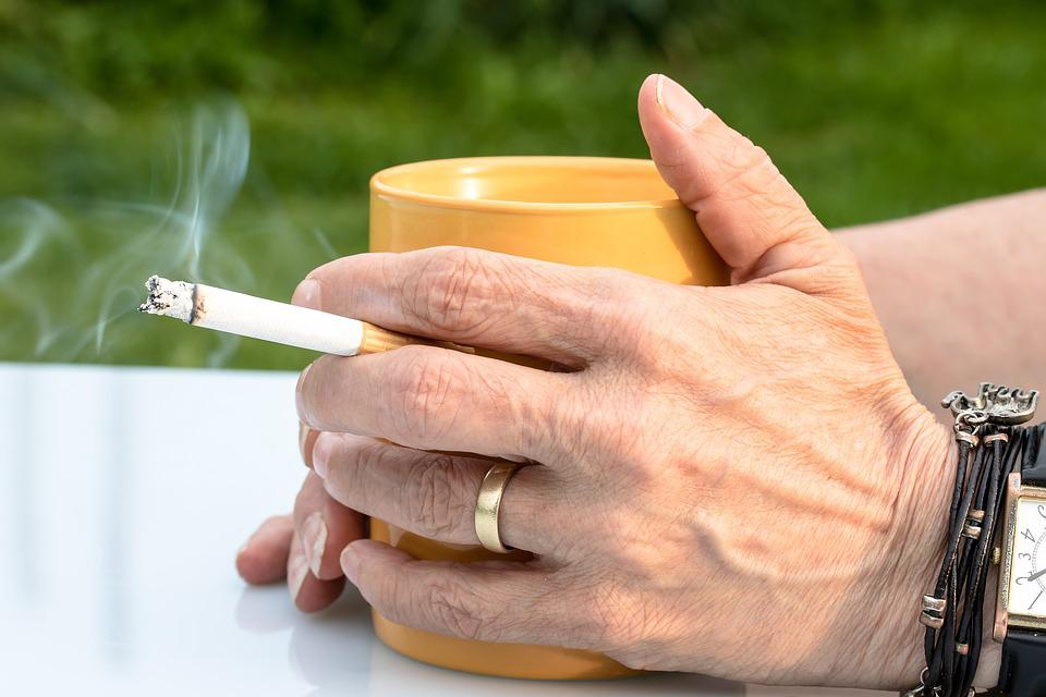 Free photo Smoke Tobacco Cigarette Fag Hands Coffee Cup Hand