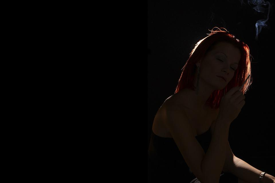 Light, Smoke, Woman