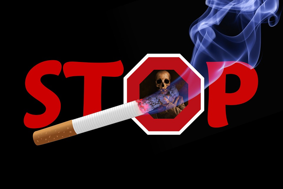 Skull And Crossbones, Skull, Stop, Smoking, Cigarette