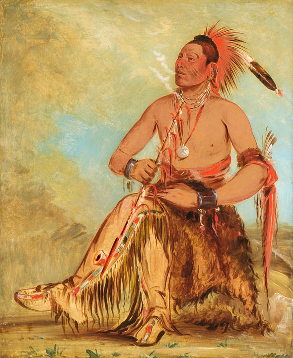 Peace Pipe, Smoking, Indian, American Indian