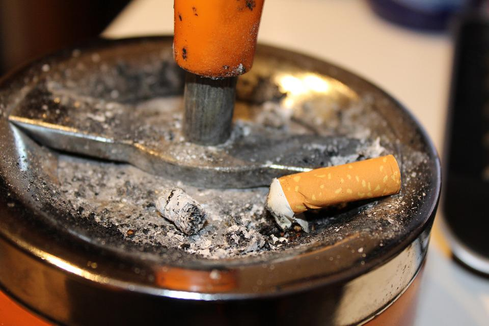 Ashtray, Ash, Cigarettes, Smoking, Tilt