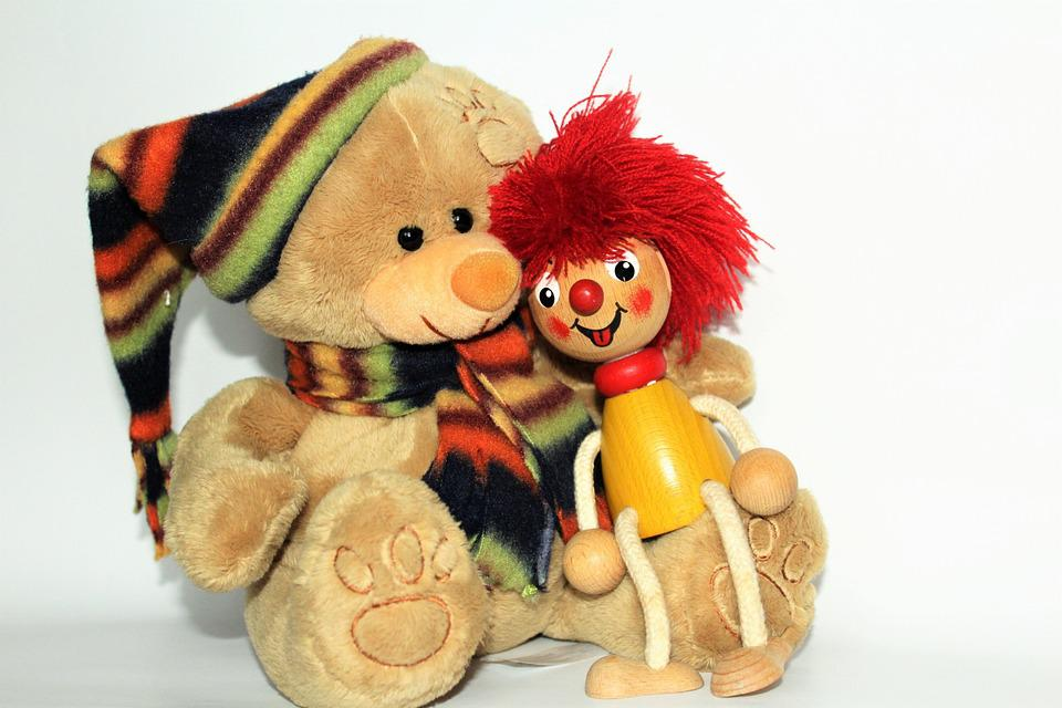 Teddy, Pumuckl, Friends, Love, Friendship, Smooch