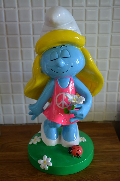 Smurfette, Smurfs, Cartoon, Smurf, Cute, Cheeky