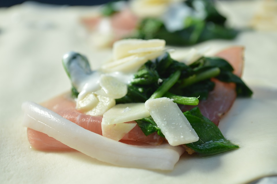 Ham, Spinach, Lunch, Food, Nutritious, Snack, Eat