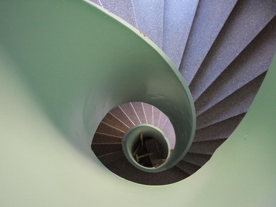 Staircase, Snail Shaped, Stockholm, Stairs