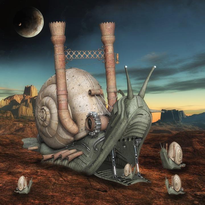 Fantasy, Snails, Landscape