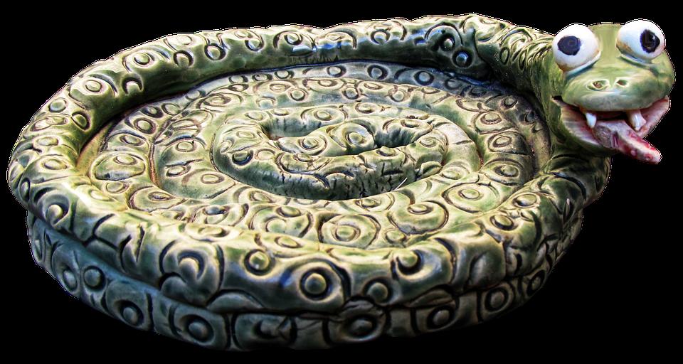 Pottery, Snake, Ceramic