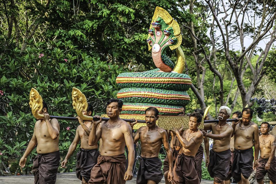 Men, Snake, Tradition, Thai, Thailand, Cambodia, Khmer