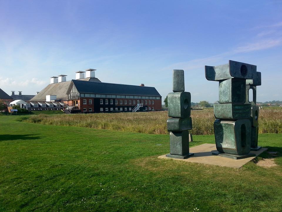Snape Maltings, Sculpture, Suffolk, Barbara Hepworth