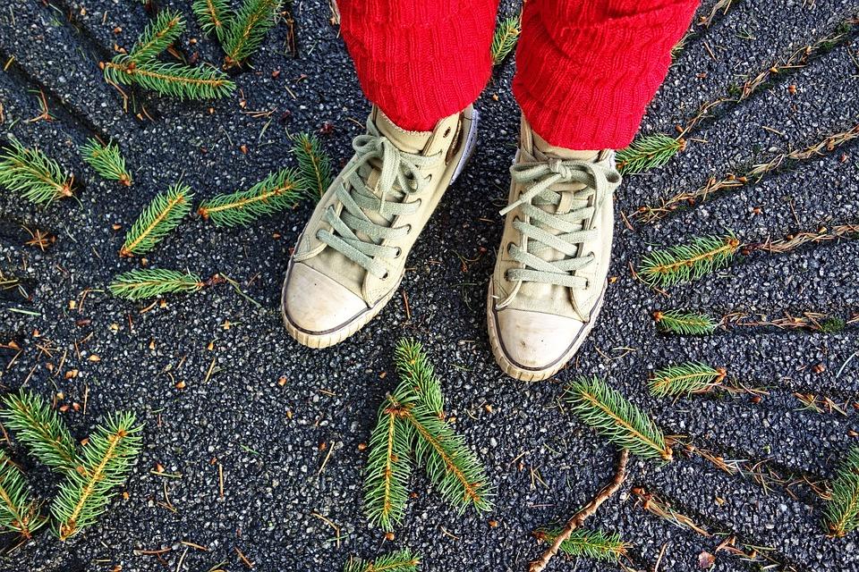 Feet, Shoe, Sneaker, Leg, Standing, Female, Leg Warmer