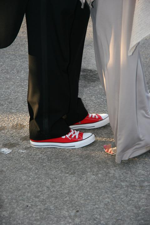 Wedding Shoes Canvas Sneakers Running