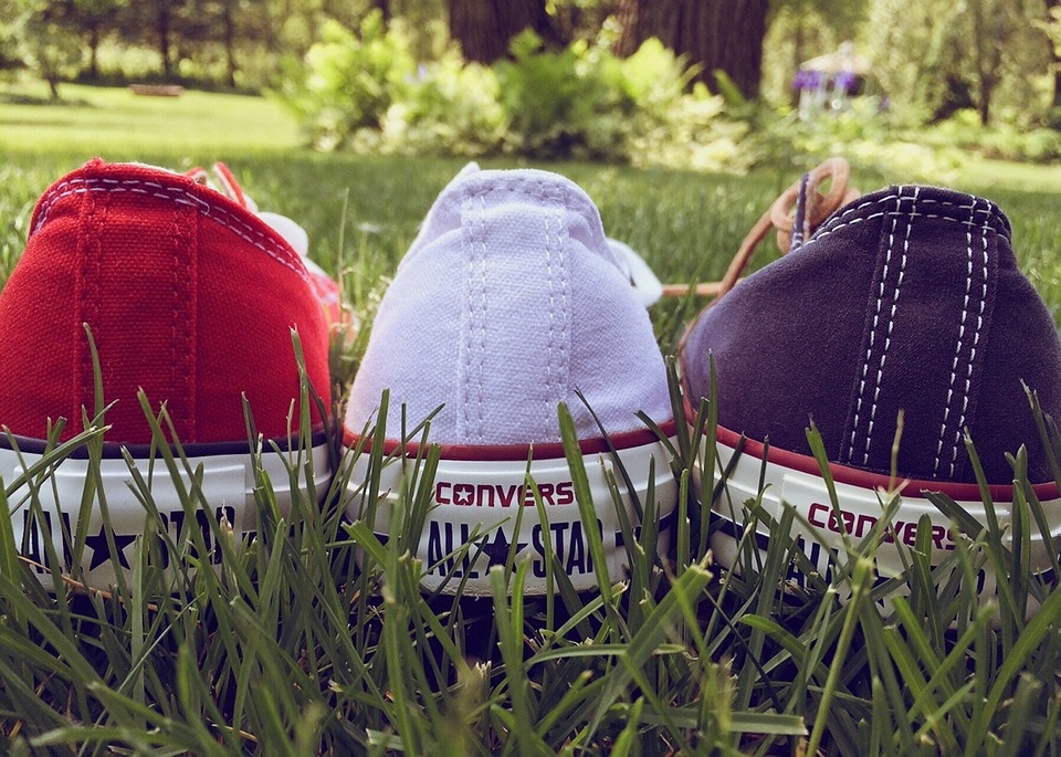 Chucks, Converse, Red, White, Blue, Patriotic, Sneakers