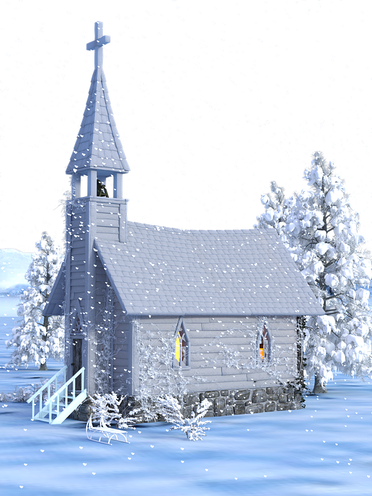 Christmas, Advent, Church, Snow, Transparent