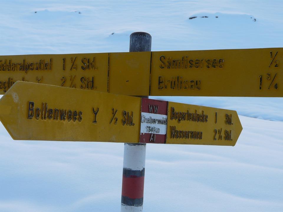 Alpstein, Snow, Appenzell, Mountain, Winter