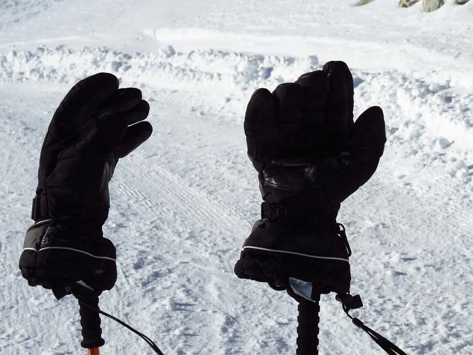 Gloves, Cold, Warming, Black, Snow
