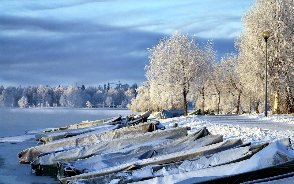 Finland, Boats, Landscape, Scenic, Winter, Snow, Ice
