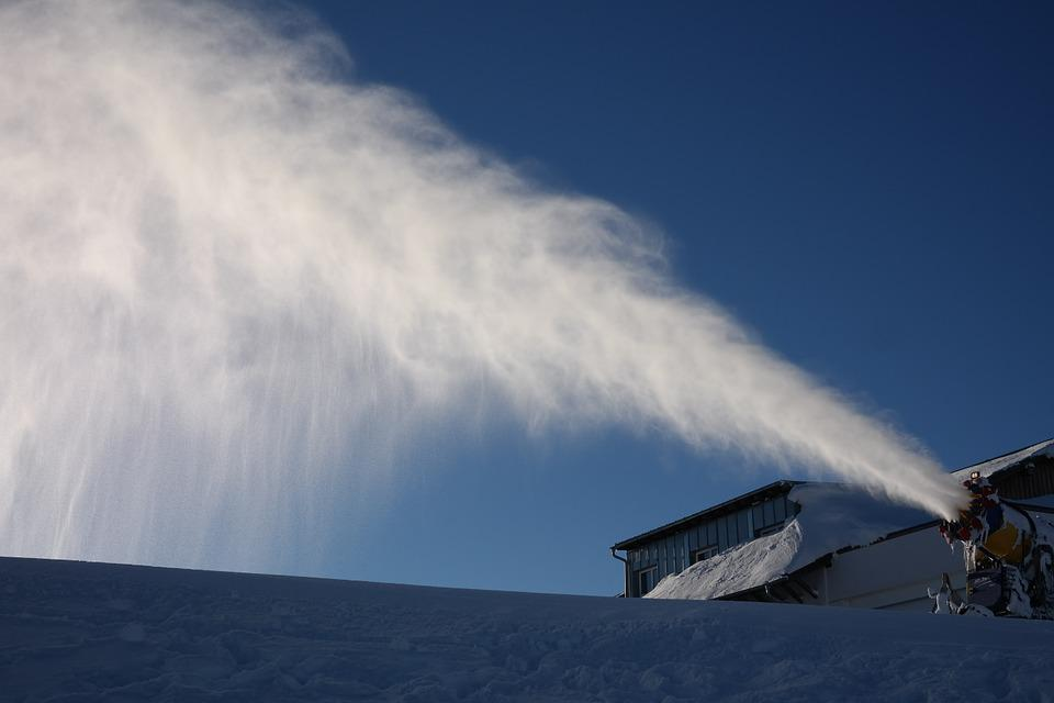 Snow Cannon, Nozzle, Spray, Snow, Snow Making System