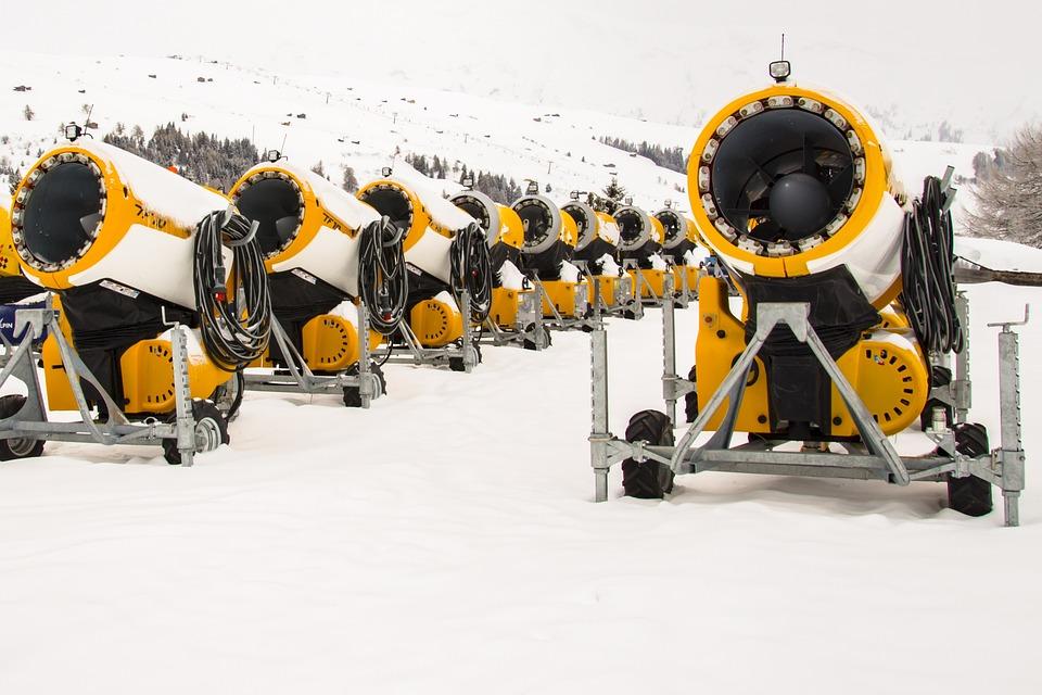 Snow Cannons, Snow, Winter, Snow Guns