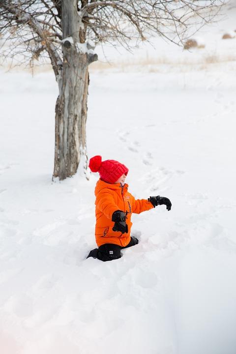 Winter, Children, Child, Play, Snow, Happy, Fun, Cold