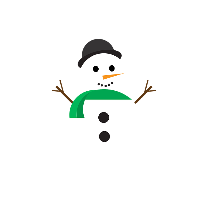 Christmas, Greetings, Snowman, Snow, Cold, Ice