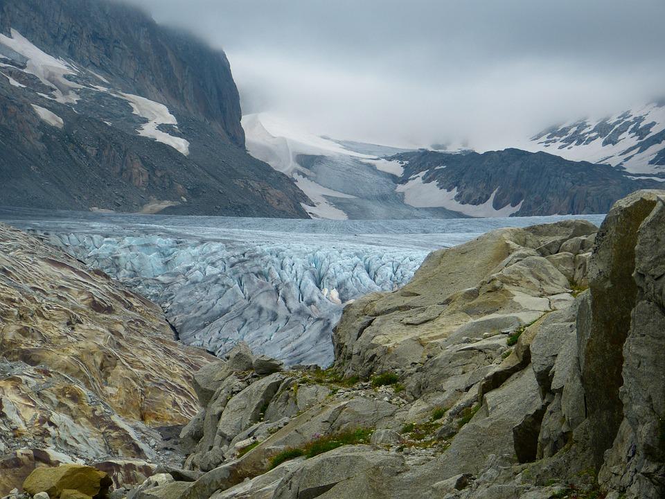Rhone Glacier, Glacier, Ice, Cold, Snow, Frozen