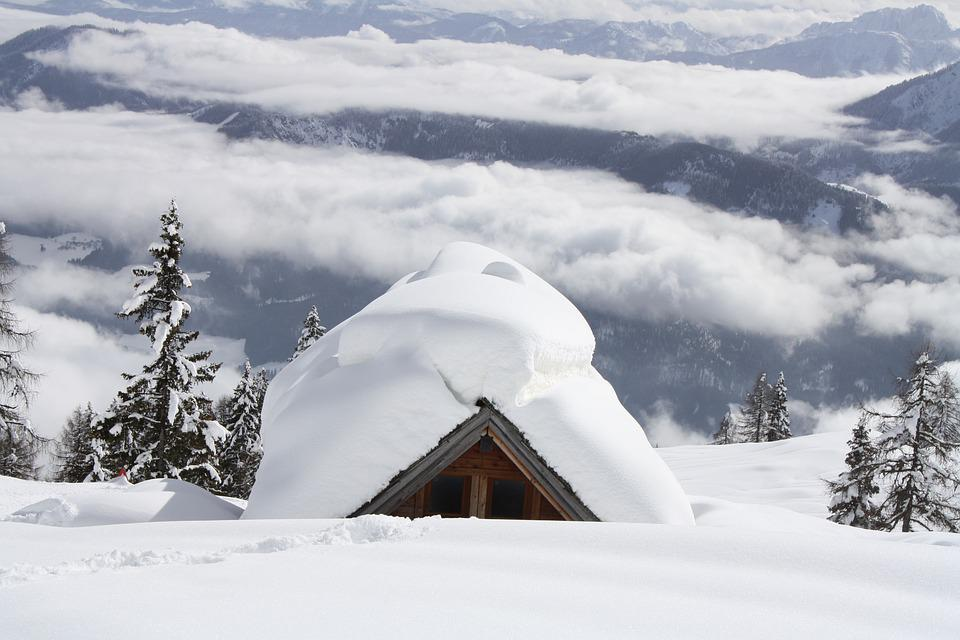 Winter, Snow, Hut, Cold, Nature, Austria