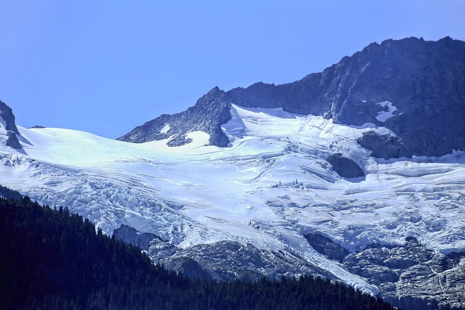 Mountain, Summit, Glacier, Ice, Snow, Cold, Peak