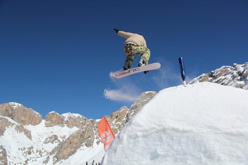 Snowboarding, Snow, Springboard, Extreme, Sports