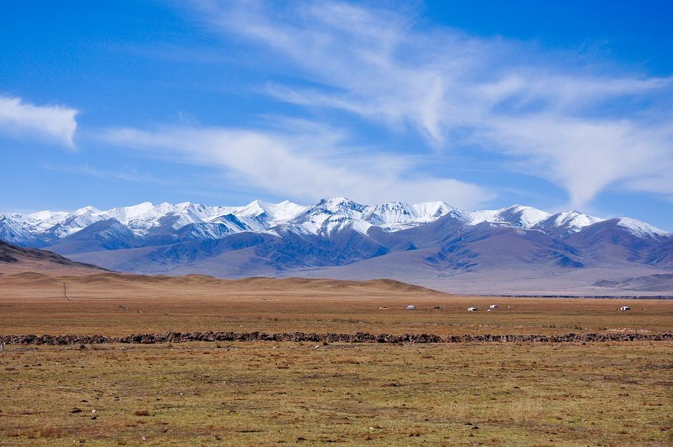 Mountains, Field, Landscape, Snow, Mountain Range