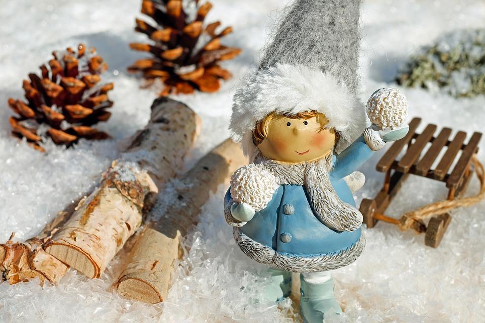 Girl, Figure, Snow Ball, Throw, Snow, Snowy