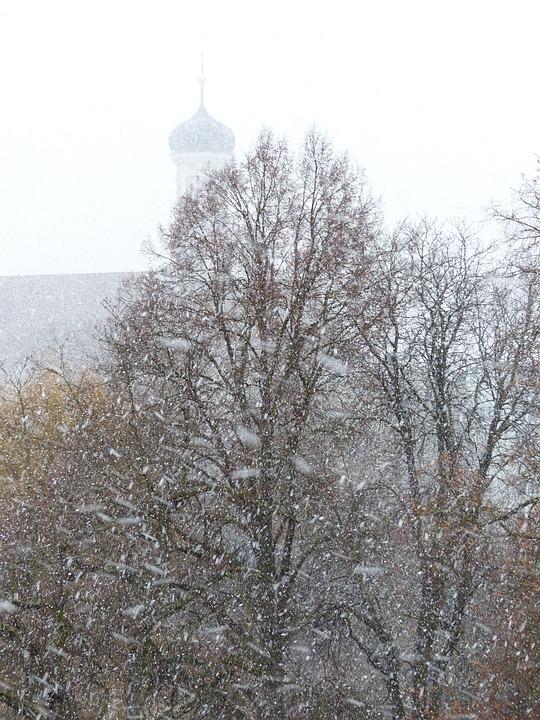 Blizzard, Snow Flurry, Snowflakes, Snowfall