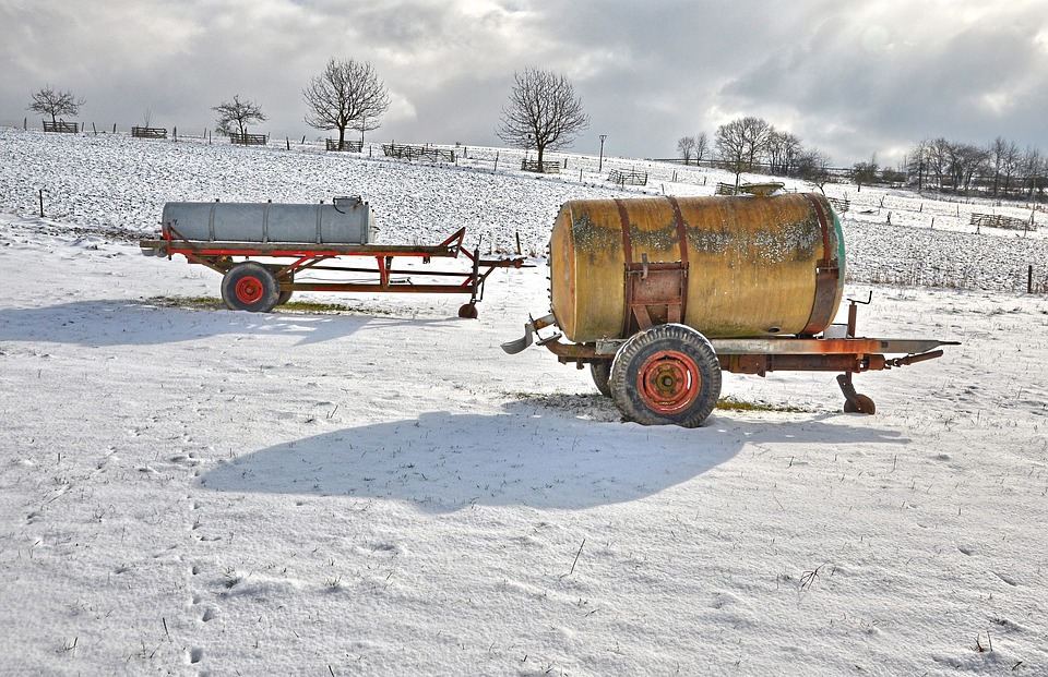 Agriculture, Nature, Snow, Sun, Frost, Pasture, Winter