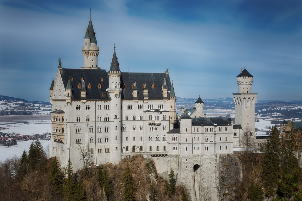 Castle, Winter, Nature, Snow, Germany, Landmark