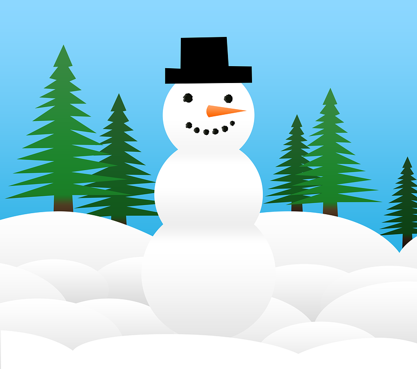 Snowman, Christmas, Snow, Winter, Graphic