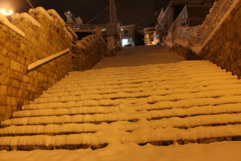 Stairs, Snow, Heaven