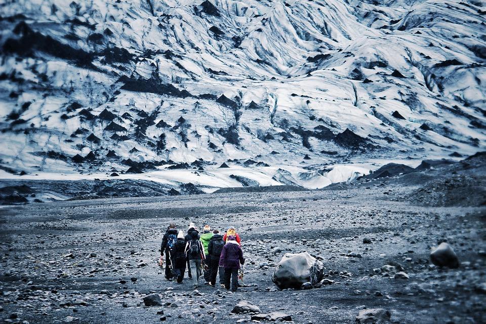 Glacier Hiking, Glacier, Iceland, Snow, Ice, Hiking