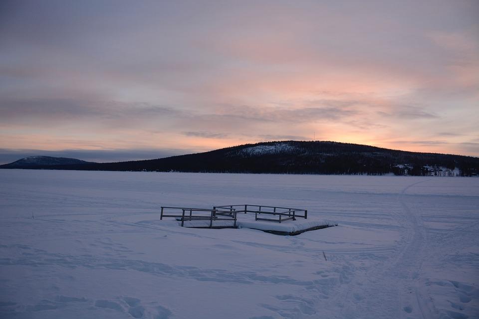 Sweden, Landscape, Horizon, Snow, Scene