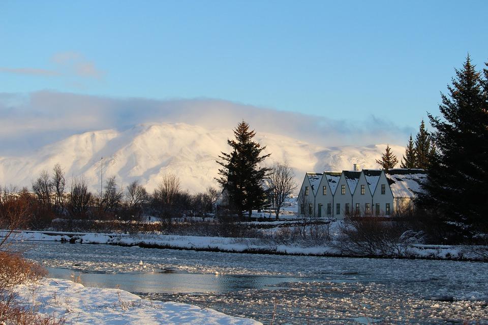 Iceland, Mountain, Snow, Ice, Landscape, Water, Stream