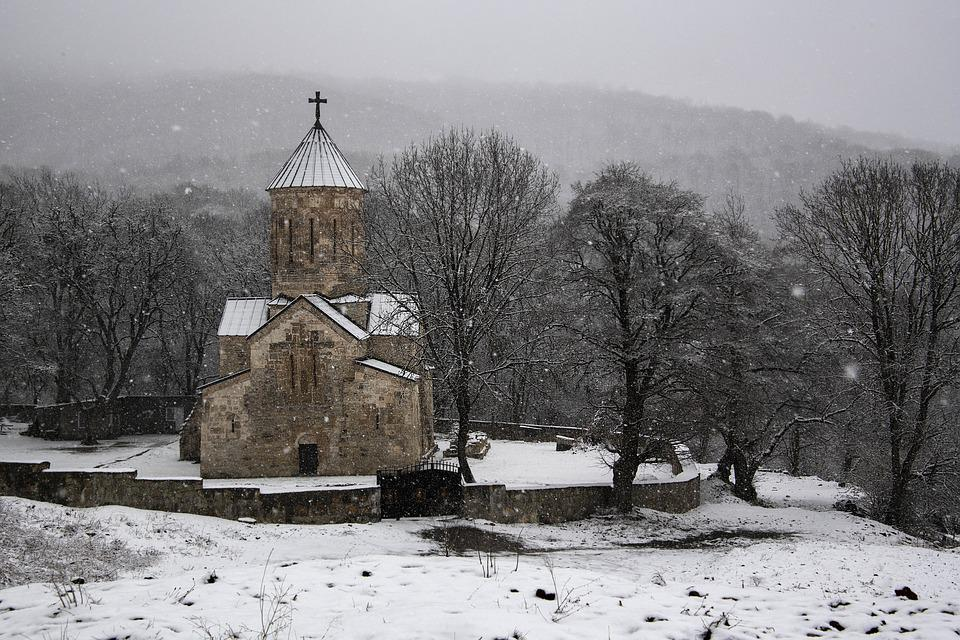 Church, Snow, Winter, Landscape, Cold, Nature, Religion